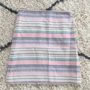 Loft Tribal Pattern Skirt Worn Once!